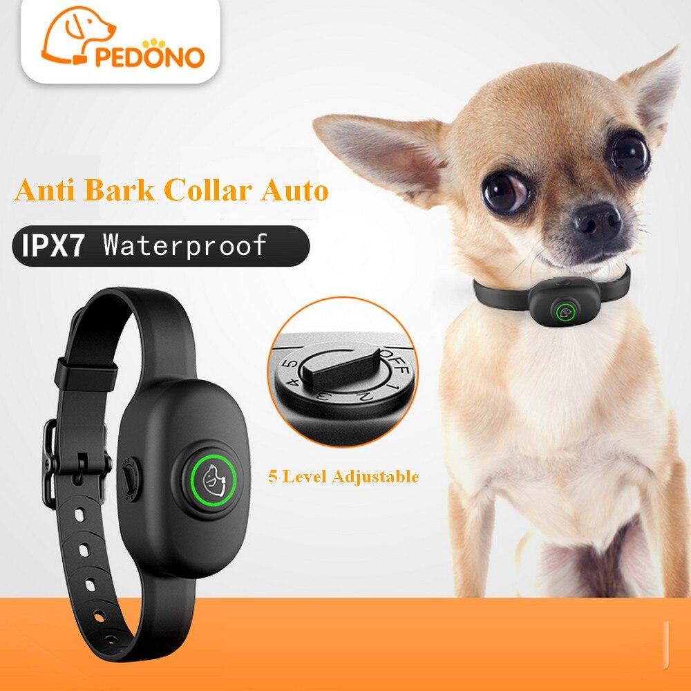 Ошейник для собак с защитой от кора, электрический ошейник, водонепроницаемый ошейник для собак, перезаряжаемый ошейник для остановки лая собачка