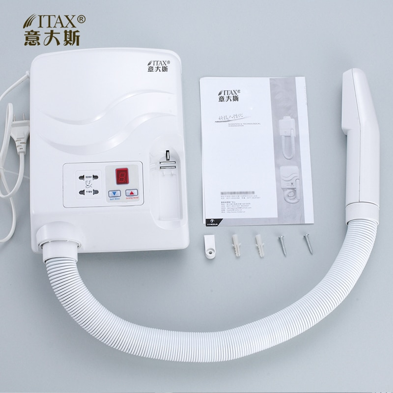 Wall-mounted Automatic Skin Dryer High Power Hair Blower Negative Ion Hair Dryer for Hotel hot wind blower X-7726 enlarge