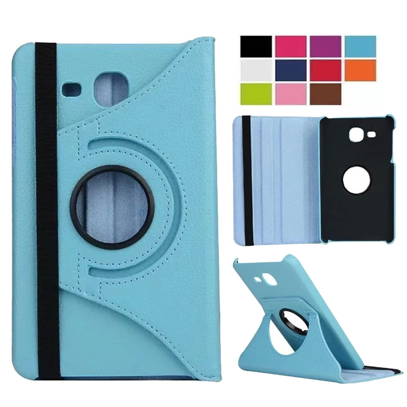 Funda giratoria 360 para Samsung Galaxy Tab A 7,0 T280 T285 SM-T280 SM-T285 2016 Funda de cuero PU funda inteligente con soporte plegable