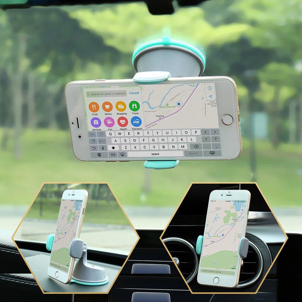 KISSCASE, soporte de teléfono para coche para teléfono móvil, ventilación de aire Universal + parabrisas para salpicadero 2 en 1, soporte para coche, soporte para Smartphone