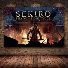 Sans cadre laffiche décoration peinture de Sekiro ombres meurent deux fois sur HD toile toile peinture art
