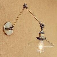 IWHD Wandlamp לופט רטרו קיר אור גופי מתכוונן נדנדה ארוך זרוע אדיסון בציר קיר מנורת LED Applique Murale