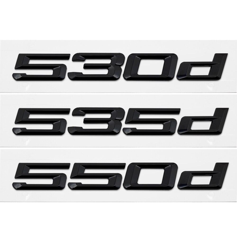 Etiqueta engomada del coche para BMW 530d 535d 550d serie 5 E36 E38 E60 E90 E50 Z3 Z4 M5 G30 X5 trasero emblema adhesivo letras estilo de coche