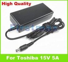 15 V 5A 75 W chargeur adaptateur secteur pour ordinateur portable pour Toshiba Satellite 2750 2755 2770 2775 2800 2805 300 305 310 315 320 325 330 335 400