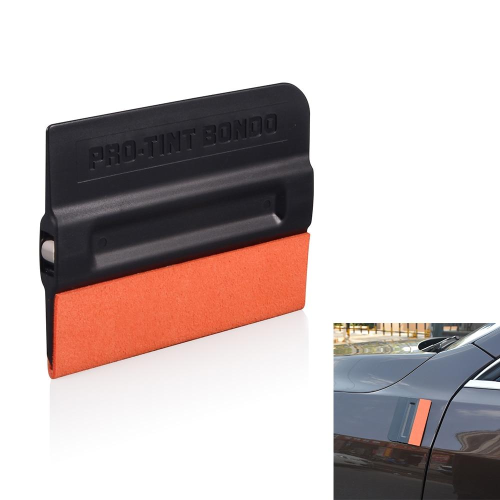 Швабра FOSHIO из углеродного волокна, магнитная виниловая пленка для автомобиля, Тонировка окон, магнитный скребок, без царапин, замшевая войл...