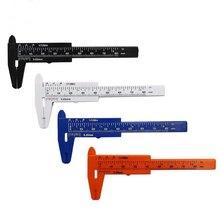 1 pièces 0-80mm Micro plastique Vernier pied à coulisse règle coulissante jauge de mesure outil à main bricolage artisanat modèle passe-temps outil de travail du bois