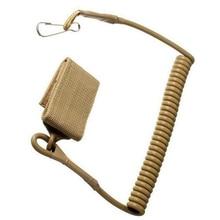 New Adjustable Combat Sling Telescopic Tactical Pistol Hand Gun Secure Lanyard Spring Sling with magic tape Belt, hanging buckle