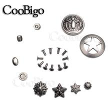 Bracelets, Star Spider, Lion, clous, clous à rivets, Punk Rock, artisanat cuir bricolage, sac à chaussures, collier pour animaux de compagnie, 10 lots