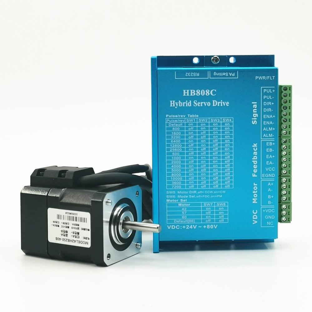 Motor paso a paso Nema 17 de circuito cerrado y Kit de controlador, servomotor híbrido de paso y Motor CC de 42mm 0,4 n. m con codificador