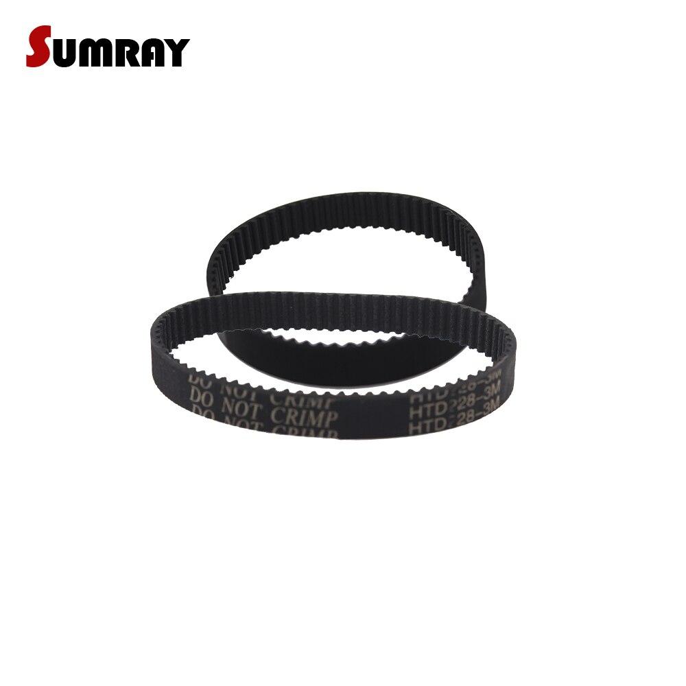 SUMRAY momento cinturón HTD 3M-240/243/246/249/252/255/258/261/264/267mm longitud Thooed cinturones para 3M momento poleas paso de 3mm