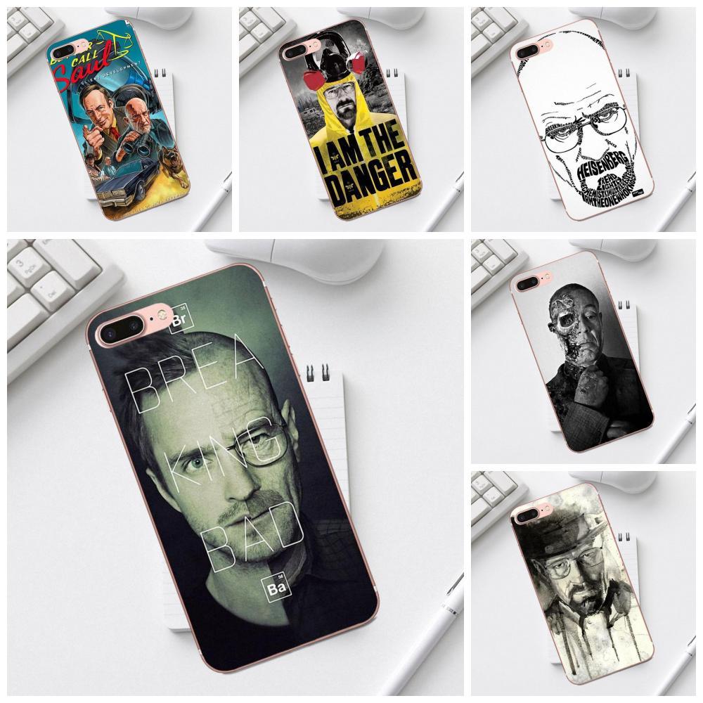 Qdowpz Breaking Bad Heisenberg For Galaxy Alpha Core Prime Note 4 5 8 S3 S4 S5 S6 S7 S8 S9 mini edge Plus Soft Phone Skin