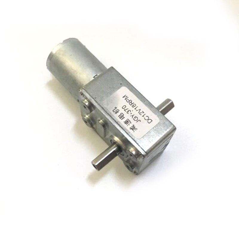 6 V-24 V motor de doble salida DC motor 12 voltios motorreductor Worm autobloqueo alto par