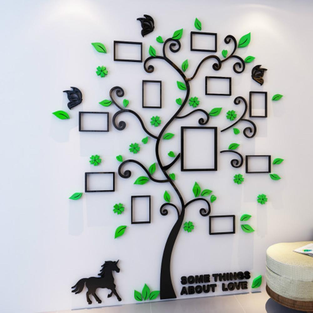 3D Acrylic Decoration Tree Wall Sticker DIY Art Wall Poster Home Decor Bedroom Bathroom Wall Stickers