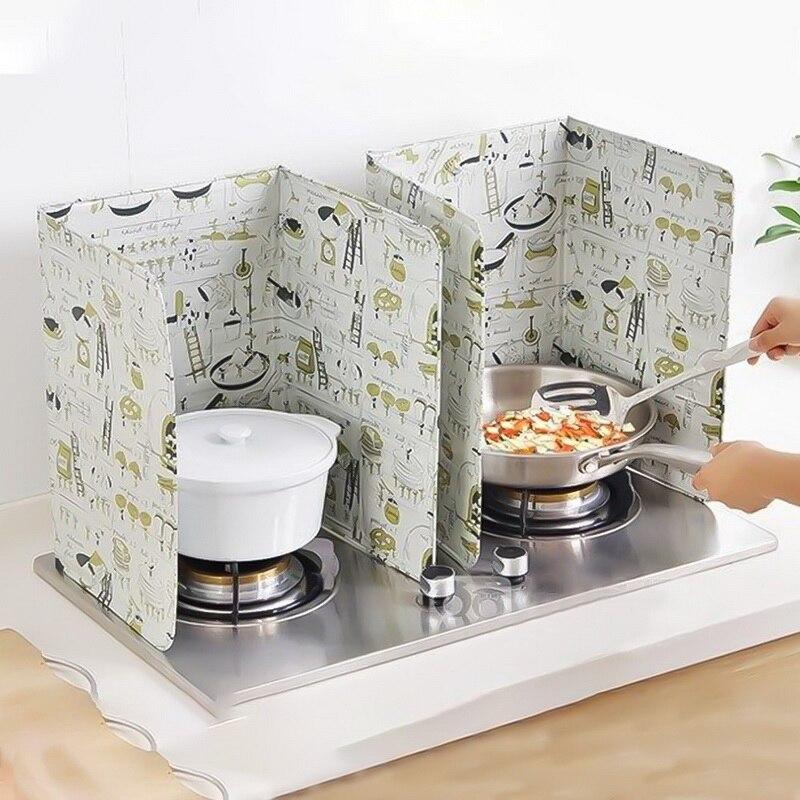 2019 estampado de moda papel de aluminio Aceite bloque barrera de aceite cocina Anti salpicaduras aceite deflector aislamiento térmico utensilios de cocina