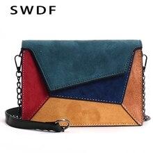 Женская сумка-мессенджер SWDF, в стиле панк, с надписью
