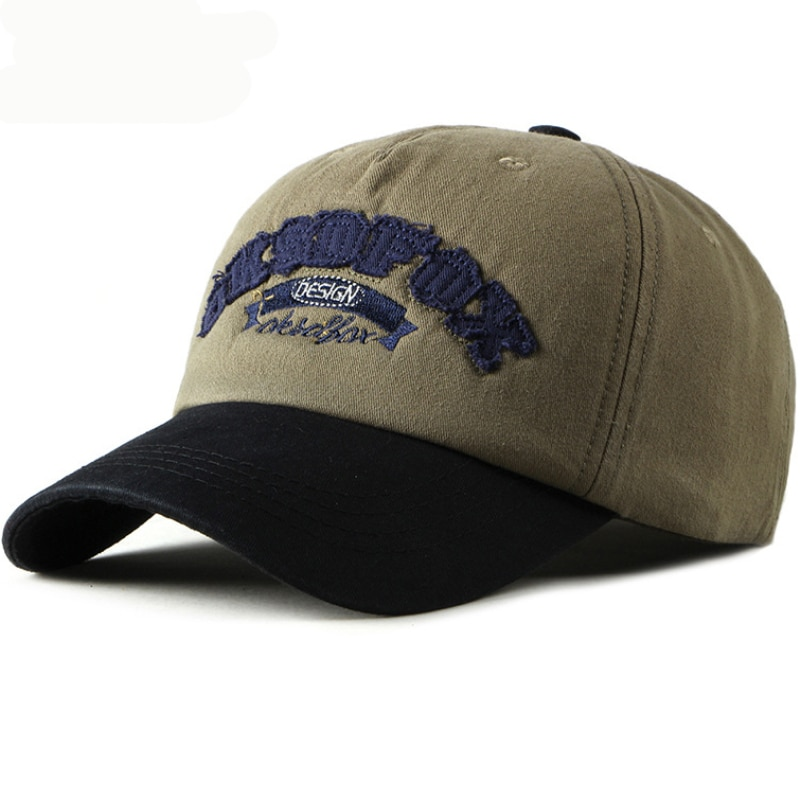 HT2418 New Spring Summer Men Women Baseball Cap Adjustable Embroidery Letters Dad Hat Patchwork Snapback Cotton