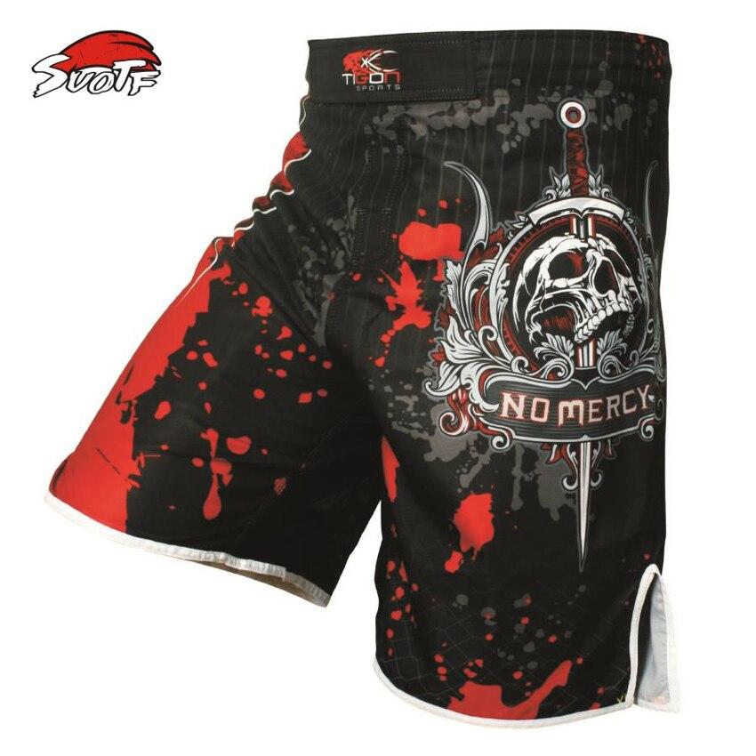 SUOTF Pro MMA Fight MMA short shorts kick boxing Muay Thai gel cage pantalones Sanda deporte boxeo pantalones M-XXXL