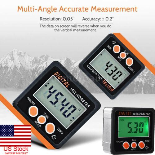 4*90 ° digitale Neigungs Ebene Box Mini Winkelmesser Winkel Finder Bevel Gauge Magnet Magnetische Basis Mess Werkzeuge