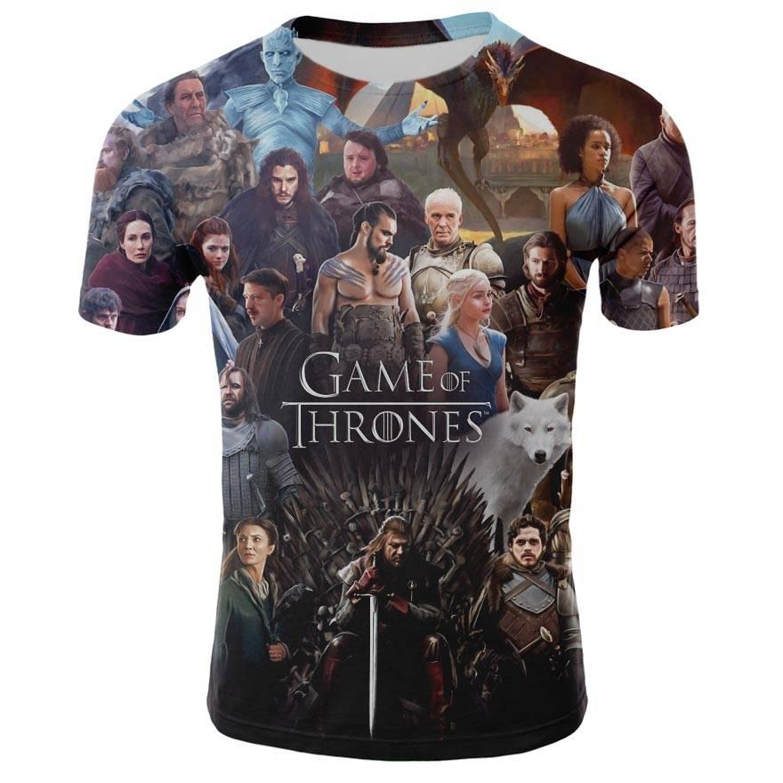 2019 frühling Herbst Game of Thrones figur cosplay kostüm t-shirt t shirts Lose Fit Casual Männer Mantel Marke-Kleidung 3d t-shirt