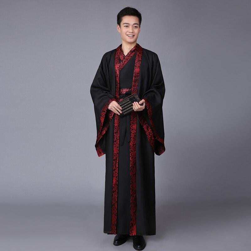 فستان صيني قديم للرجال ، تأثيري هانفو ، زي صيني تقليدي ، عرض مسرحي ، ملابس صينية 89
