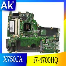AK X750JA Motherboard i7-4700HQ For ASUS X750JB A750JA K750J K750JA X750J laptop Motherboard X750JA Mainboard test 100% ok