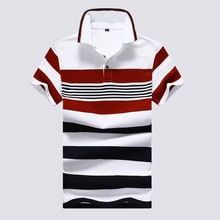 Cheap Wholesale 2019 New Men's summer short sleeve lapel stylish casual striped polo shirt tide
