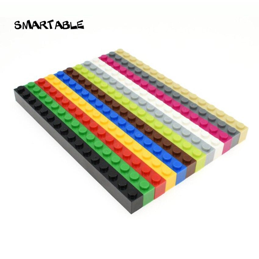 Smartable ladrillo 1X16 piezas de bloques de construcción DIY juguetes para niños creativos educativos compatibles con las principales marcas 2465 MOC juguete 10 unids/lote