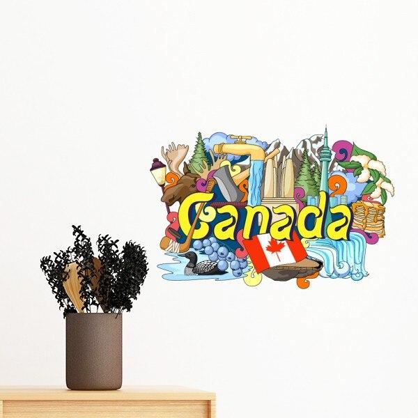 Montañas Rocosas torre CN Arce Canadá pintada desprendible sticker art Wall Decals mural DIY wallpaper para decalque de habitación