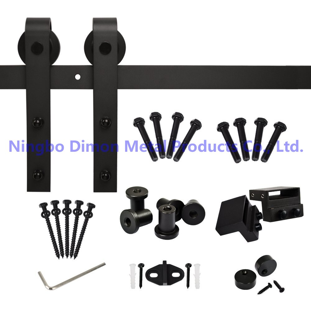 Free Shipping Dimon America Style Hot Sell Cheap Wooden Sliding Barn Door Hardware DM-SDU 7201 Without Track