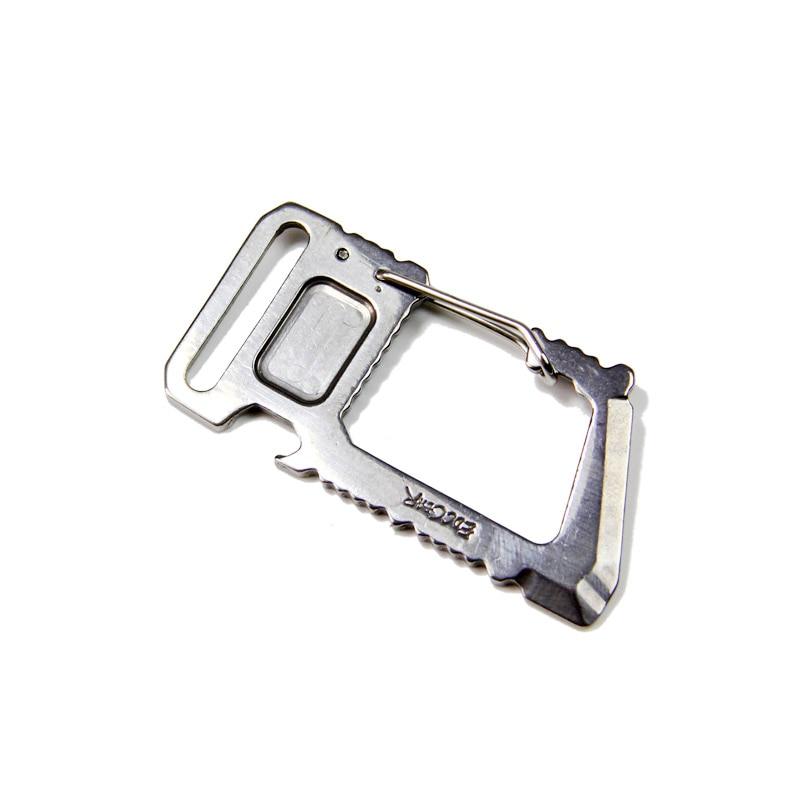 Многофункциональный универсальный зажим-карабин для повседневного использования, многофункциональный инструмент, штопор, Открыватель ко...