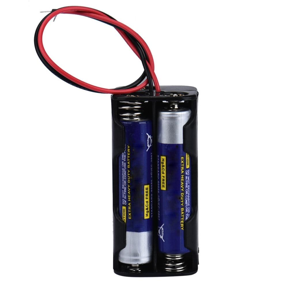 2-slot 4 x aaa bateria de volta para trás titular caixa de caso com fio leva futural digital diy acessórios