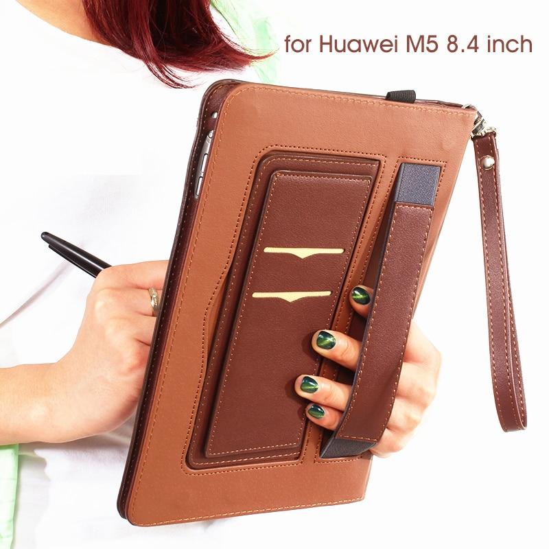 Funda de piel sintética para Huawei MediaPad M5 de 8,4 pulgadas SHT-AL09 SHT-W09 funda protectora para Huawei MediaPad M5 8,4