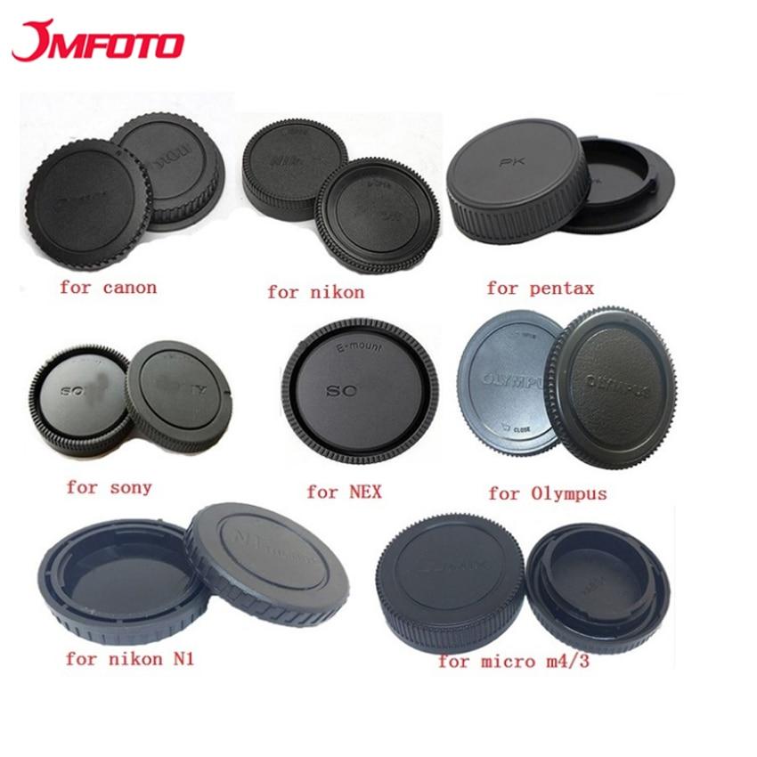 JMFOTO Cámara tapa trasera tapa de lente protección antipolvo para Canon Eos Nikon N1 Sony Nex Pentax PK Olympus Micro M4/3 Panasonic montaje