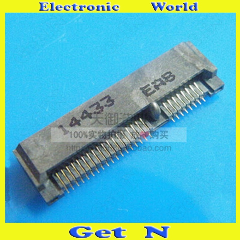 50 قطعة PCE-E صغيرة 52P 4.0H 3 جرام اللاسلكية modeole Msata موصل مقبس متفرع لأجهزة الكمبيوتر المحمولة