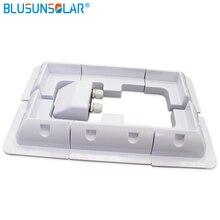 BULSUNSOLAR 1 세트 ABS 솔라 패널 마운팅 브래킷 흰색 키트 케이블 엔트리 갠드 7 개/대 캐러밴 Motorhome RV