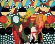 Peinture à lhuile sur toile abstraite moderne   De Top compétence, faite à la main, sur toile, peinture à la main, décor artistique mural, peinture acrylique Sexy femme sur limage, 100%