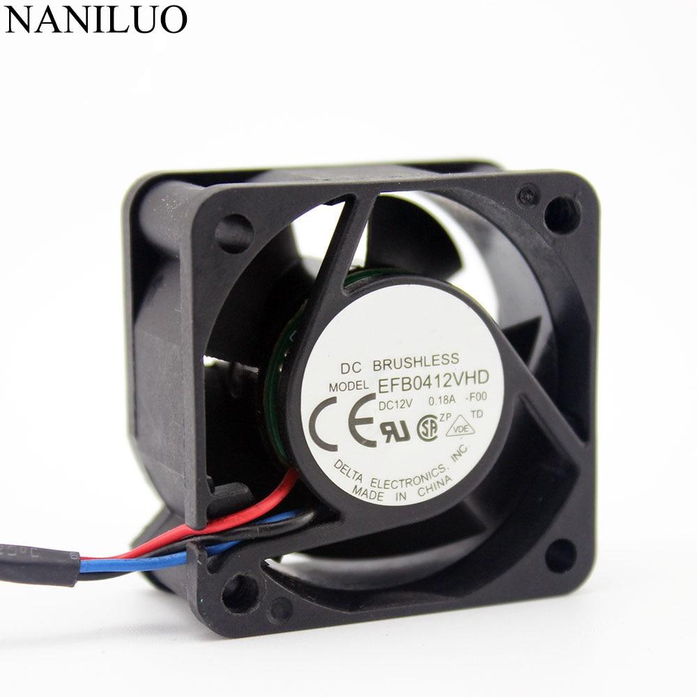 EFB0412VHD 40mm 4020 DC 12v 0.18a 4cm server inverter computer cpu axial blower cooling fans
