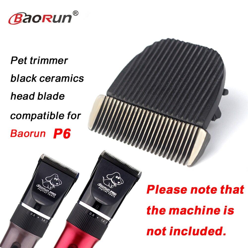 Оригинальная машинка для стрижки домашних животных, кошек и котов, 1 шт., керамическая головка для стрижки волос, триммер, лезвие, совместимо с Baorun P6