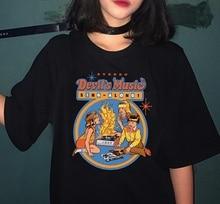 HAHAYULE Devils Music Sing Along T Shirt Male Female Short Sleeves Printed Cartoon Graphic T-shirt Custom Oversize Summer Tees