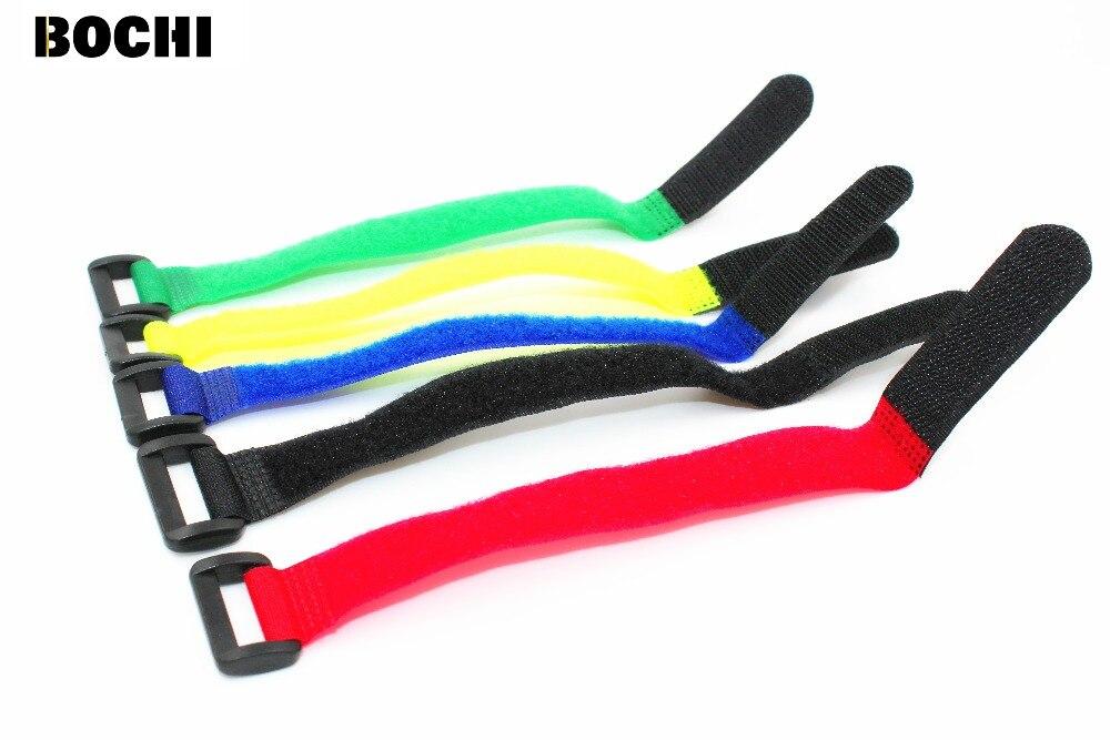 Envío Gratis 20 piezas 20*300mm bridas para cables reutilizables con correas de franja de botón de correa de Nylon con hebilla de gancho