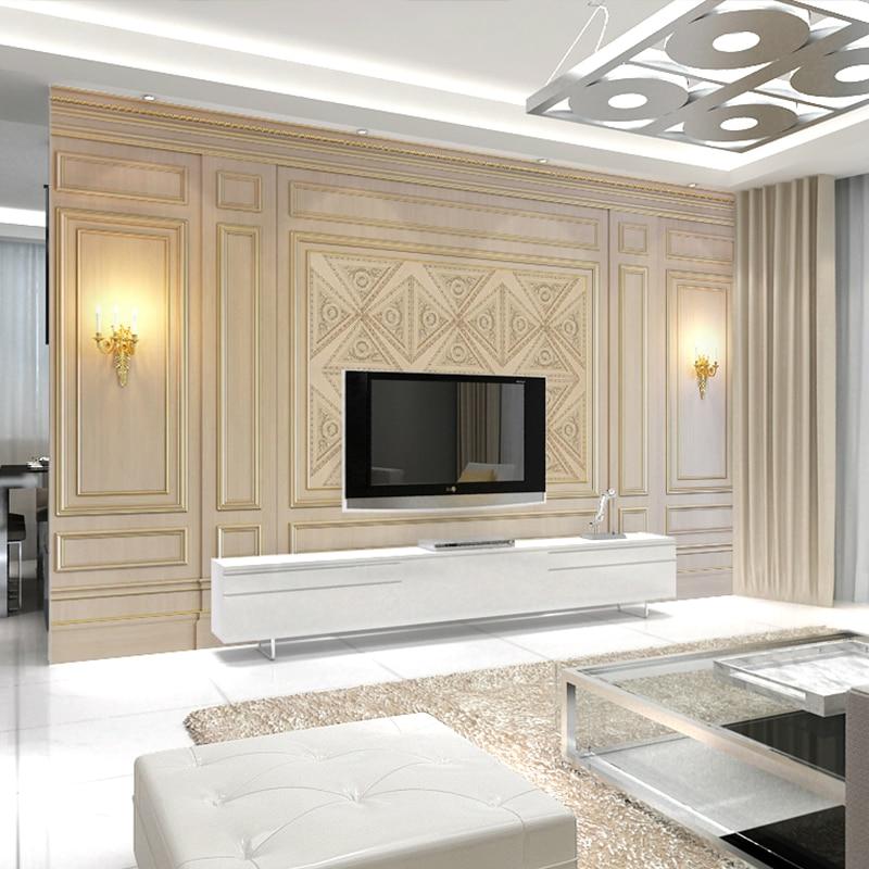 Bacaz 8d Stereoscopic Baseboard Light Mural Wallpaper 3d Wall Photo Mural Wall paper for Living Room TV Background Wallcovering