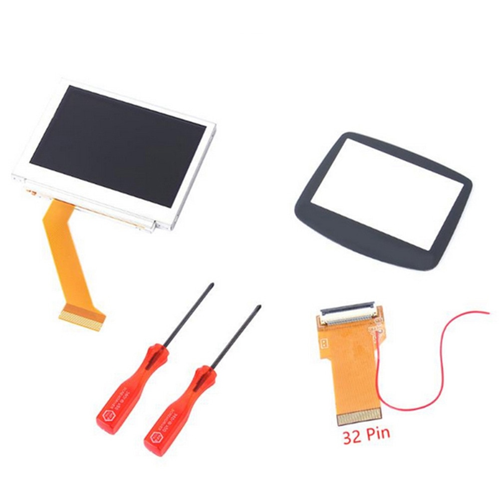 MASiKEN 32/40 Pin Cable for Nintend Advance MOD LCD Replacement Backlight Kit for GBA SP AGS-101 Backlit Screen