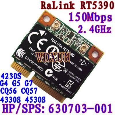 Rt5390 Half Size Mini Pcie Wifi Card 802.11bgn Hp436 435 431 4230s 4330s Sps:630703-001 Internal 150mbps Wireless For Laptop