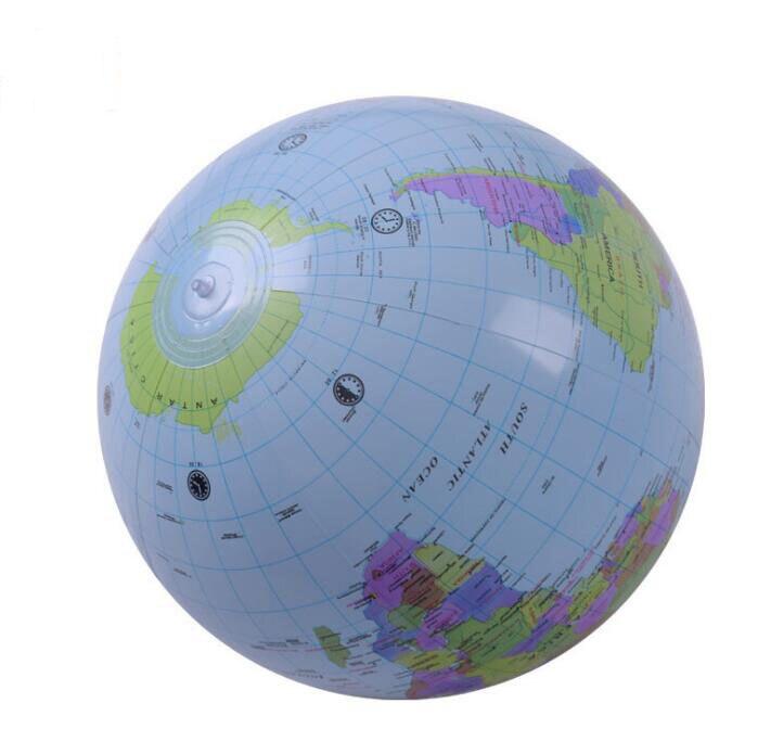 Grande 30 cm Brinquedo Inflável Globo Inglês Geografia Aprendizagem Precoce brinquedos Educativos para Crianças PVC Inflável Globo Mapa Balão