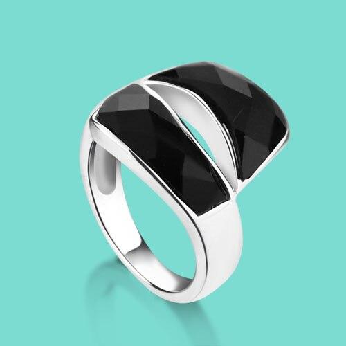 Anillo de Plata de Ley 925, anillo de plata de ley para mujer a la moda y con personalidad, mosaico de ónix, anillo de plata de ley, adornos de colocación diaria