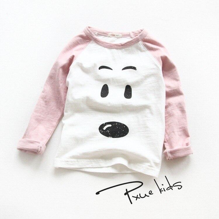 Модные весенне-осенние детские футболки для мальчиков и девочек, футболки с длинным рукавом, детская одежда Jchao, Детские брендовые хлопковы...