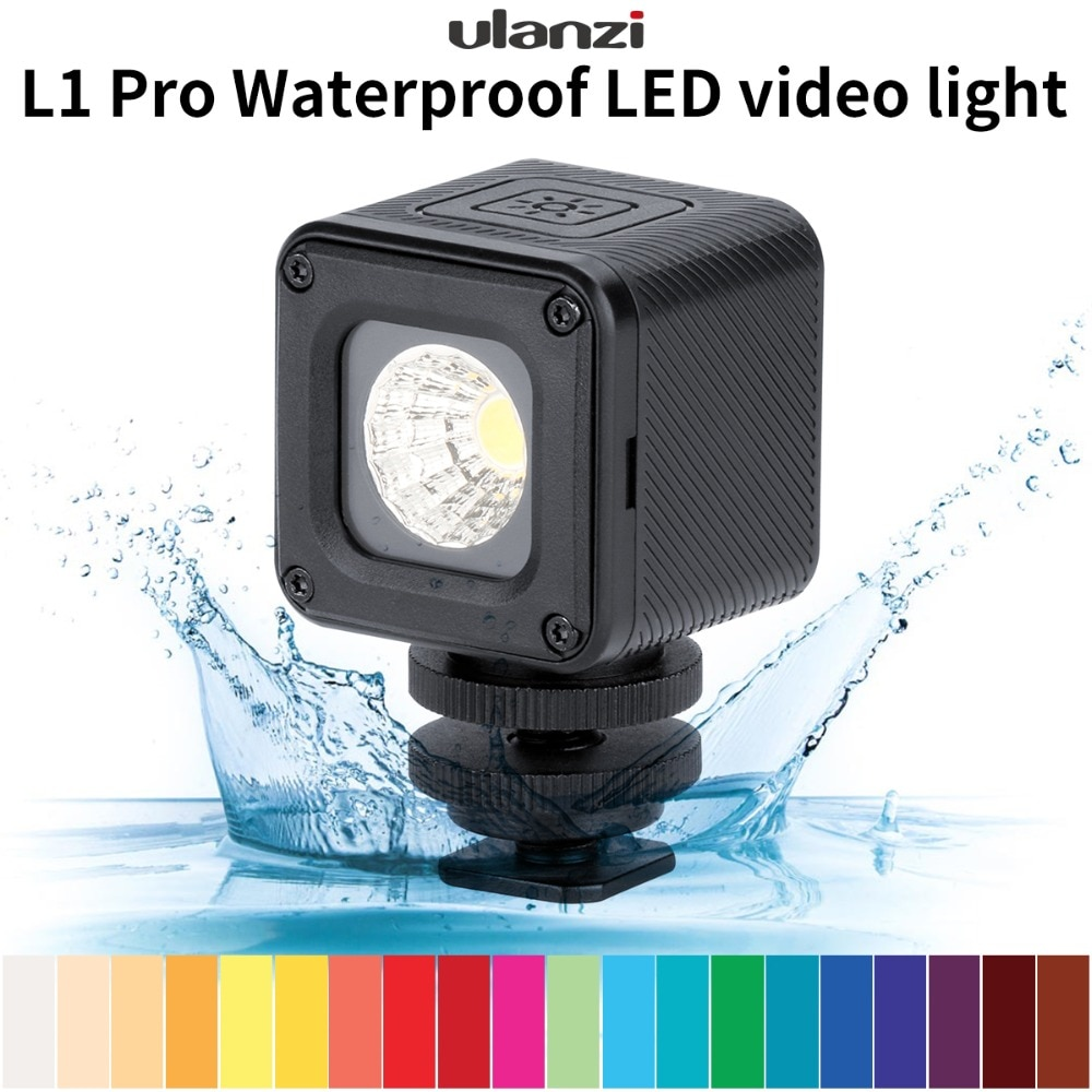 Ulanzi L1 Pro 10m Unterwasser LED Video Licht Wasserdicht Dimmbare LED Video Lampe für Nikon Canon GOPRO SJCAM Action kameras