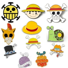 Anime One Piece Skull Enamel Pins Brooch Cosplay Props Devil Fruit Grass Cap Badge Costumes Accessories Monkey D. Luffy Brooches