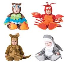 Costume de Cosplay pour bébé noël   Costume dhalloween pour bébé, combinaison pour garçons et filles, motif requin homard kangourou, ensemble de vêtements pour enfants