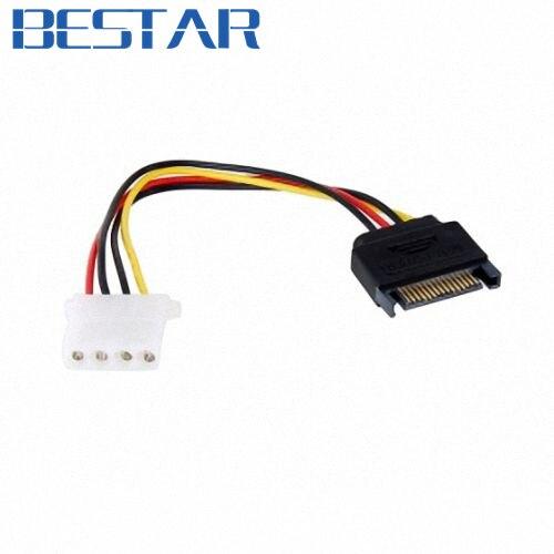 Serial ATA SATA II 15 Pin на жесткий диск 4 pin IDE кабель питания адаптер sata адаптер с IDE на разъем SATA